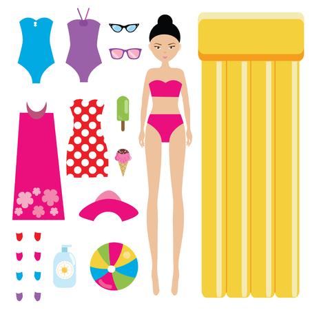 Vestir A La Muñeca Juego De Niños El Tema De Las Vacaciones