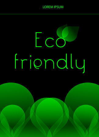 sample environment: Eco friendly concept background with green shapes. Card, flyer, advertisement design template