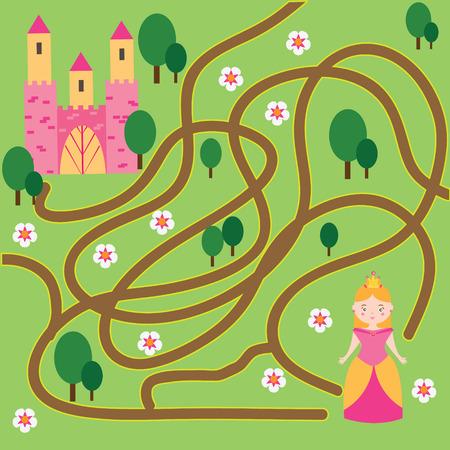 Maze Kinder Spiel: Helfen Die Halloween-Mädchen Das Labyrinth Gehen ...