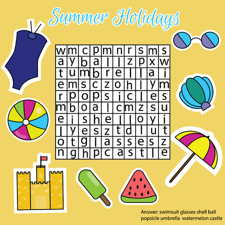 developmental: Word search puzzle. Find words children educational game. Learning vocabulary