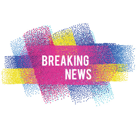 Breaking news vector banner. Vector illustration, isolated design element for headlines, background for web sites, flyers and other business Illustration