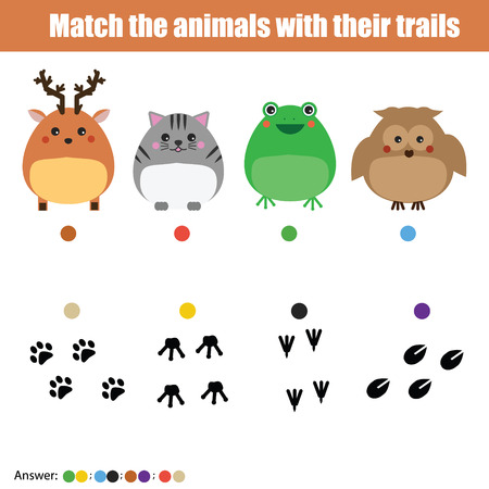 Match the insects with homes children education game. Learning animals theme kids activity Illustration