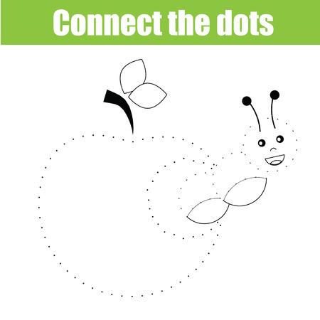 Verbind de stippen educatieve tekening kinderen spel. Punt om het spel te stippelen voor kinderen. Animal thema