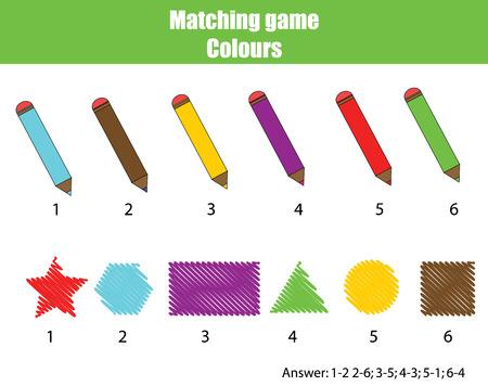 Number Names Worksheets kids learning worksheet : Educational Children Game. Matching Game Worksheet For Kids ...