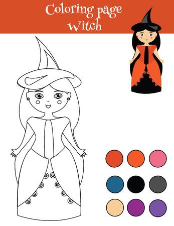 Malvorlage Für Kinder Mit Halloween Kürbis. Zeichnungsaktivität ...