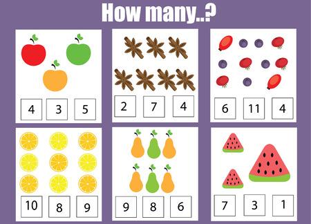 Mathematik Lernspiel Für Kinder. Lernen Zählen, Zusätzlich ...
