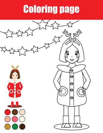 Dibujo Para Colorear Con La Muñeca Japonesa Linda Kokeshi. Juegos ...