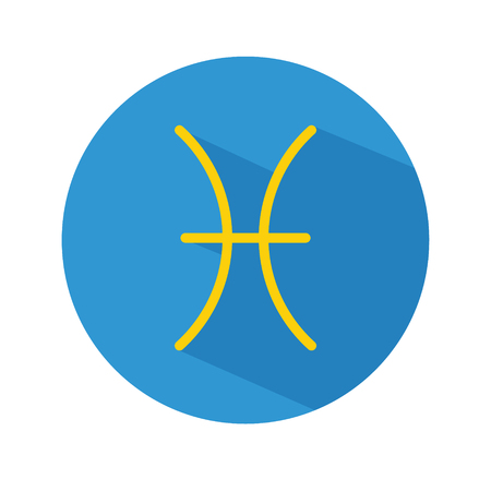 Capricorn. Classic Astrological Zodiac Sign. Vector icon in Flat Style with Long Shadow. Design element for applications, web and other business