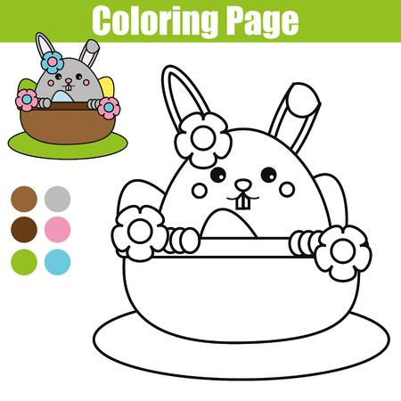 Página Para Colorear Con Lindo Personaje De Ratón. Juego De Niños De ...