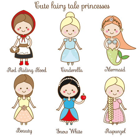 queen's theatre: Cute kawaii fairy tales characters.