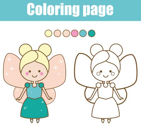 Dibujo Para Colorear Con Personaje De Conejito De Pascua. Color Por ...