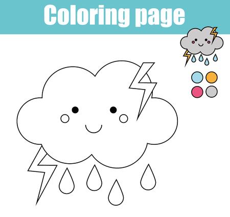 Página Para Colorear Con Lindo Personaje De Sol Sonriente. Colorea ...