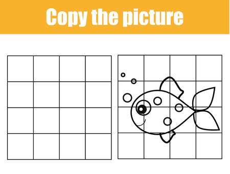 grid copy game complete the picture educational children game