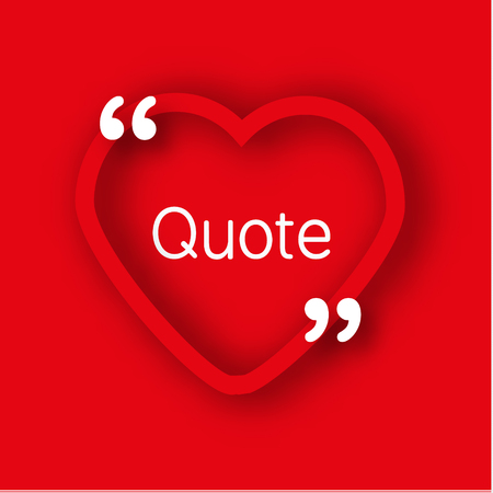Paper Heart Shape Frame Template In Realistic Style Red Heart Beauteous Valentines Day Quote Pictures