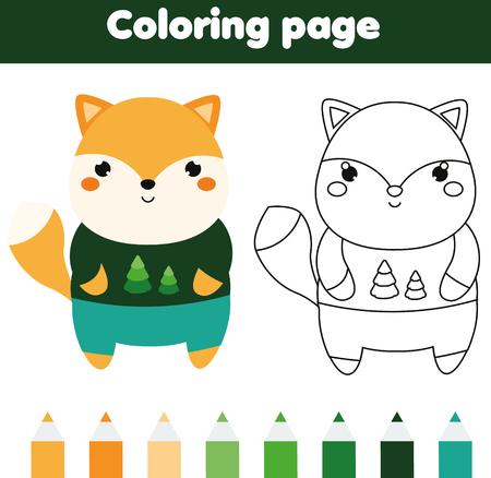 Página Para Colorear Con Calcetín De Navidad. Color Por Números ...