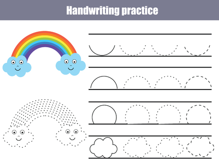Handwriting Practice Sheet Educational Children Game Printable