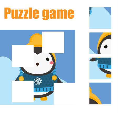 Puzzle for toddlers vector