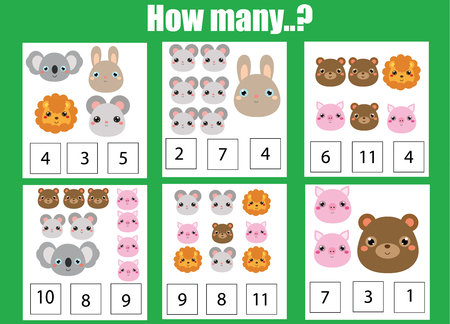 Counting educational children's game vector Illusztráció