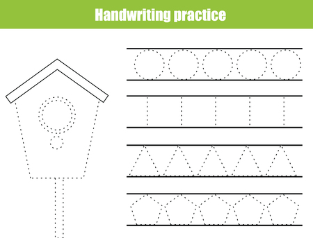 Handwriting Practice Sheet Educational Children Game Printable