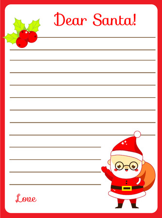 Writing prompt for kids blank. Educational children page. Develop fantasy and writing stories skills. Letter to Santa printable blank page printable sheet