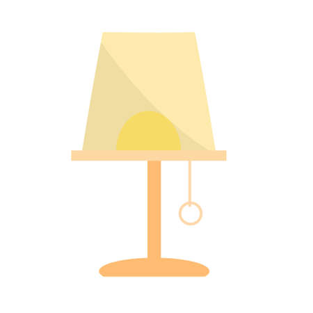Vintage lamp furniture with lampshade. Vector icon Ilustração