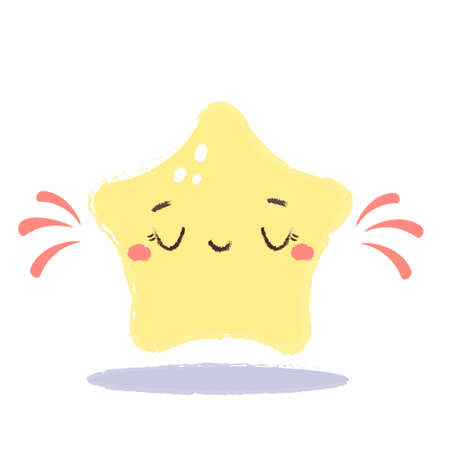 Cute little star. vector illustration for kids. Adorable Print for clothes. Good night theme, nursery design 向量圖像