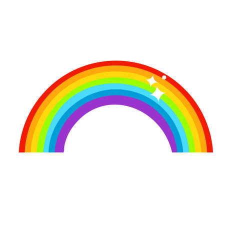 colorful rainbow. Seven colors. Vector clip art