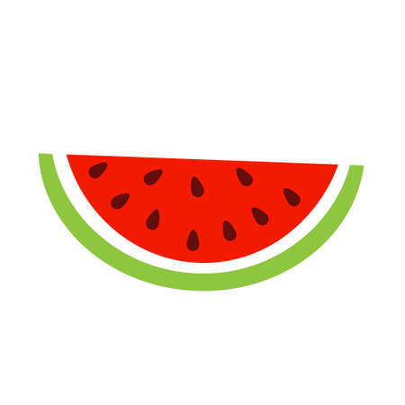 Watermelon slice. Vector icon, isolated clip art.