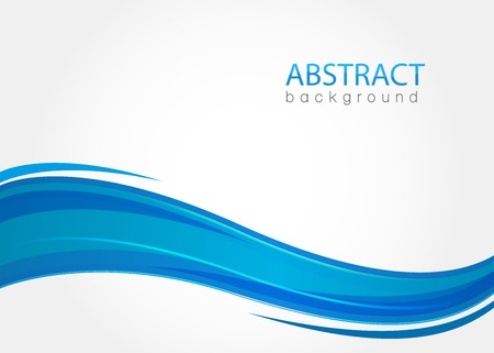 abstract line: Abstract background with blue waves
