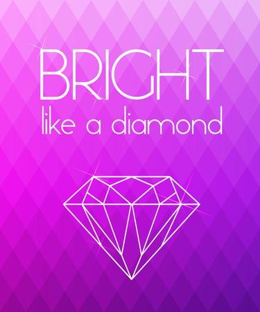 bright: Bright purple rhombus background