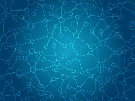추상 분자 의료 배경