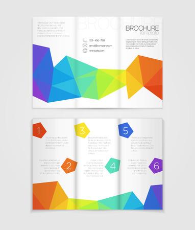 arco iris: Dise�o del modelo del folleto con los elementos del arco iris Vectores