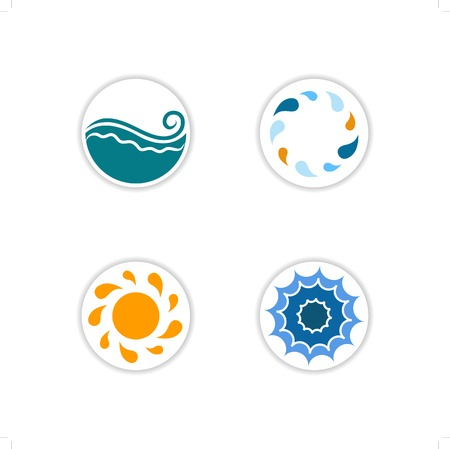 celadon: collection of sea icons Illustration