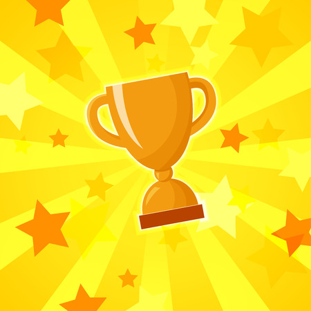 Vector winner cup light background Stock Illustratie