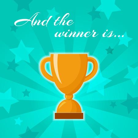 triunfador: Ganadores de oro taza Foto de archivo