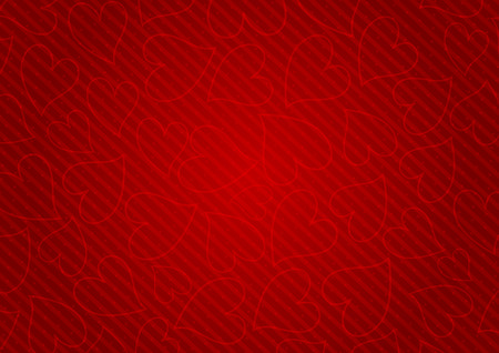 mild: Abstract red background with hearts. Saint Valentines day.