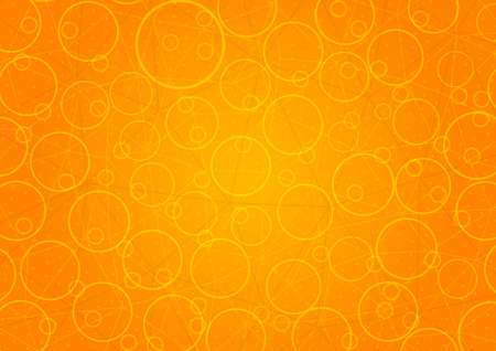 Abstract orange background with circles. Ilustracja