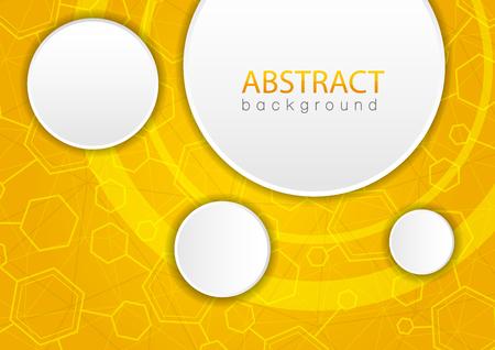 Abstracte gele achtergrond met zeshoek. Vector Illustratie