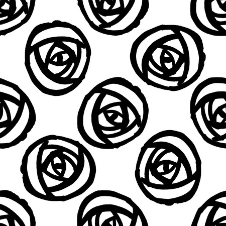 Seamless background with stylized roses. Vector illustration