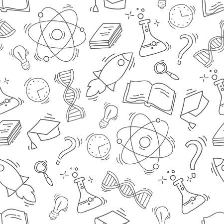 Hand Drawn Science seamless pattern