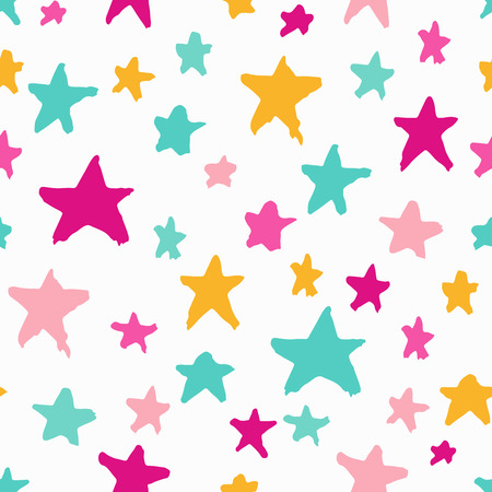 Colorful seamless pattern with stars Ilustrace