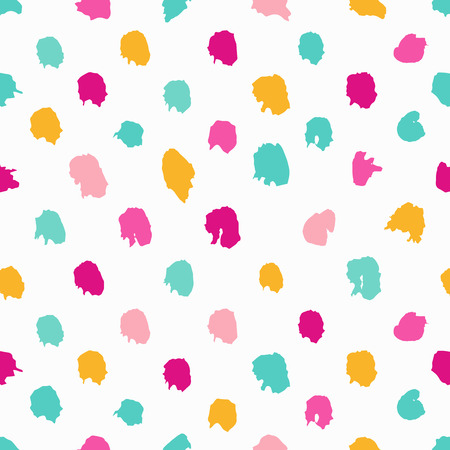 Colorful hand-drawn polka dot seamless pattern Ilustrace
