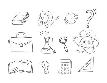 Set of Hand Drawn School icons. Ilustrace