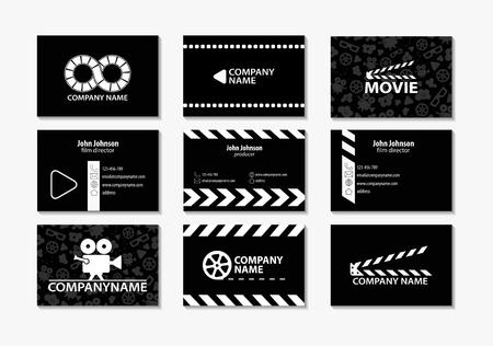 Vector conjunto de tarjetas de visita creativas