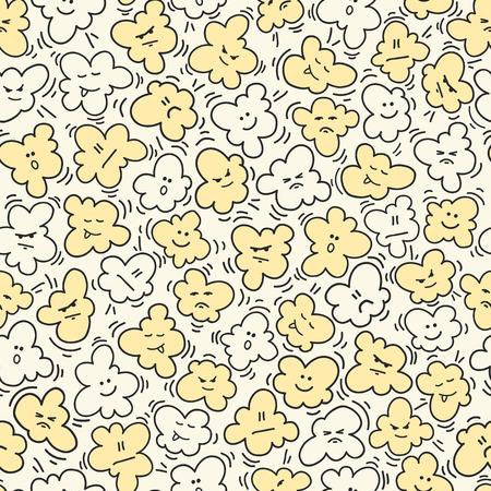 Funny popcorn seamless pattern