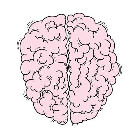 의료 디자인을위한 인간의 두뇌 일러스트
