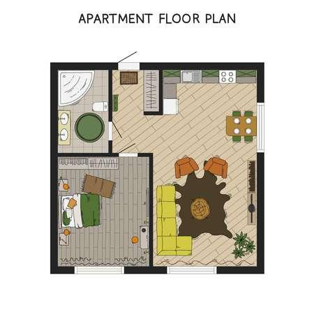 건축 평면도에서 가구와 계획