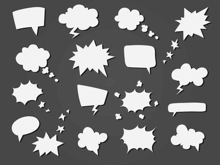 만화 음성 풍선 컬렉션입니다.