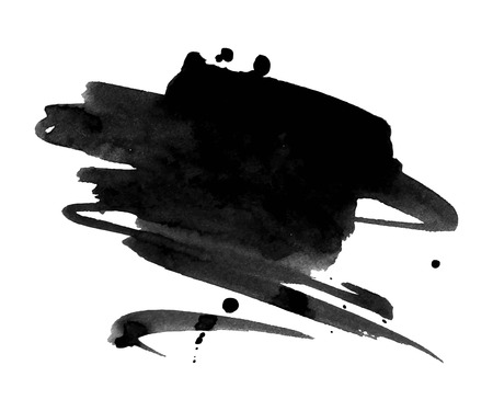 Abstract black ink blot background Ilustracja