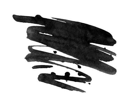 추상 검정 잉크 오 점 배경입니다. 벡터 일러스트 레이 션. 수채화 얼룩. 수채화, 페인트 얼룩. 말풍선